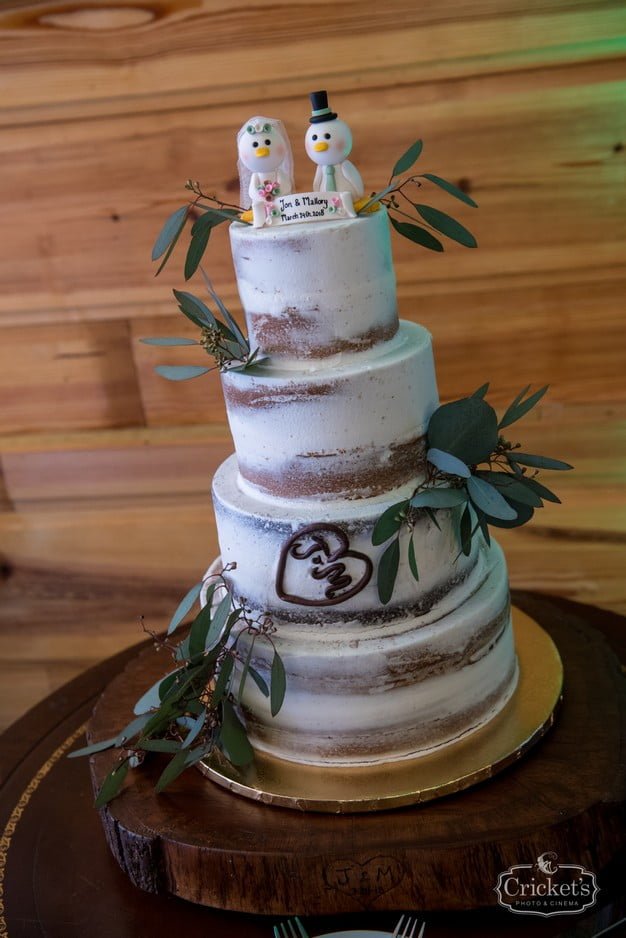 Orlando Club Lake Plantation Naked Wedding Cake