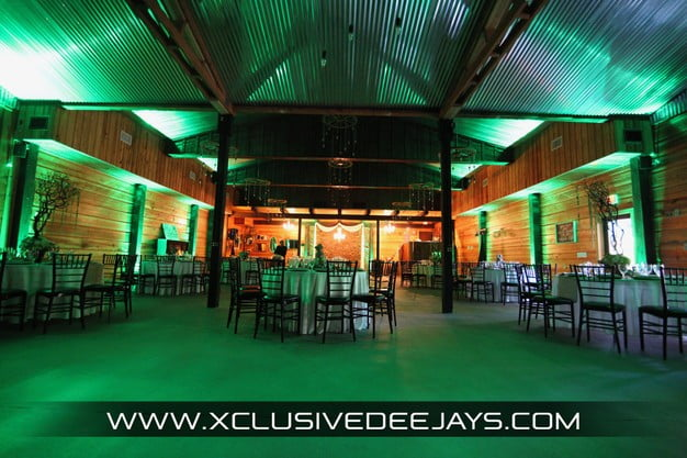 Orlando Club Lake Plantation Wedding DJ and Entertainment Up Lighting