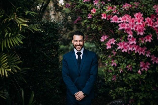 Orlando Florida Federation of Garden Clubs Romantic Wedding Groom Tuxedo