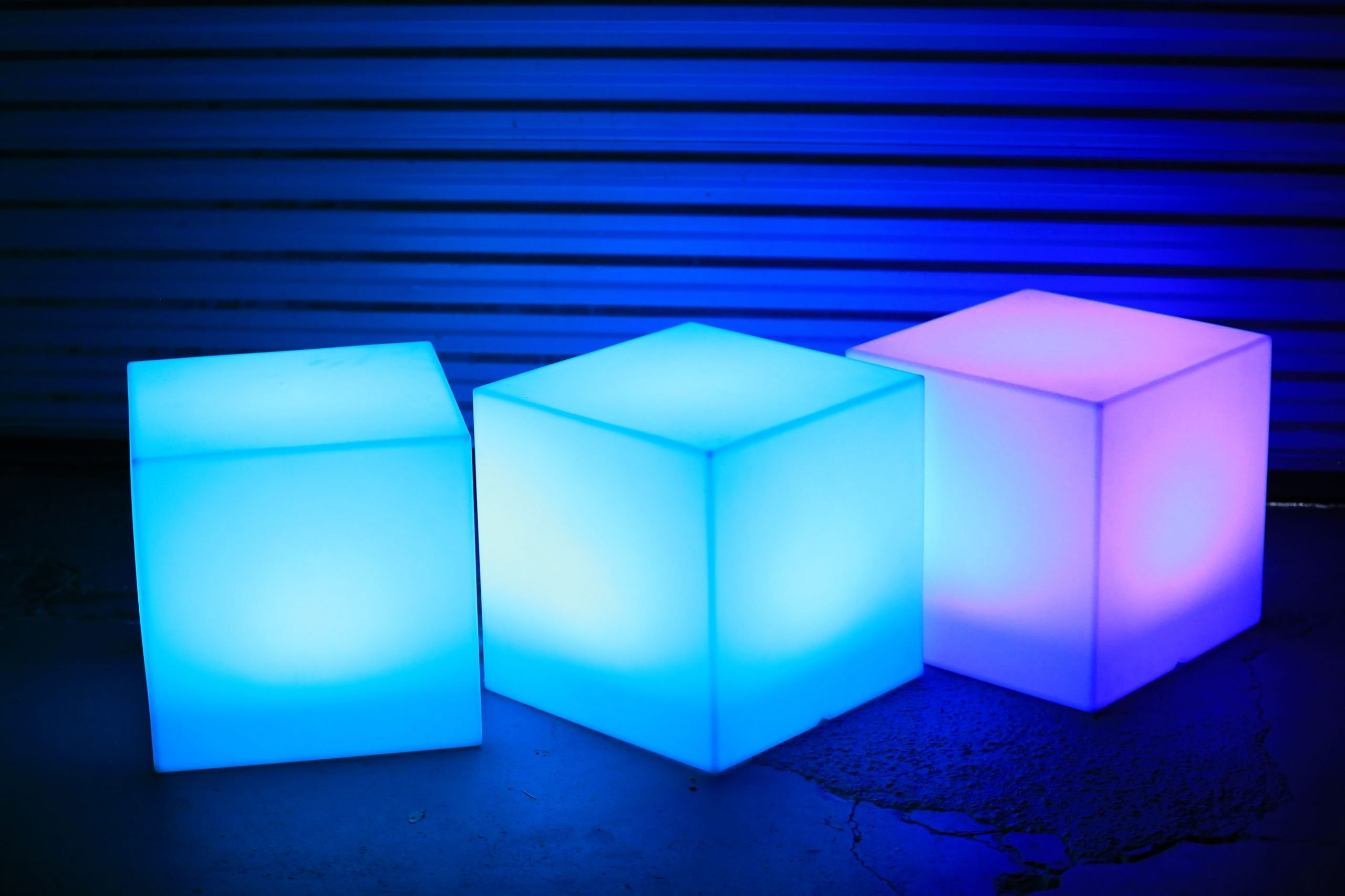 led cubes xclusive deejays winter springs florida wedding dj lighting photo booth entertainment scaled